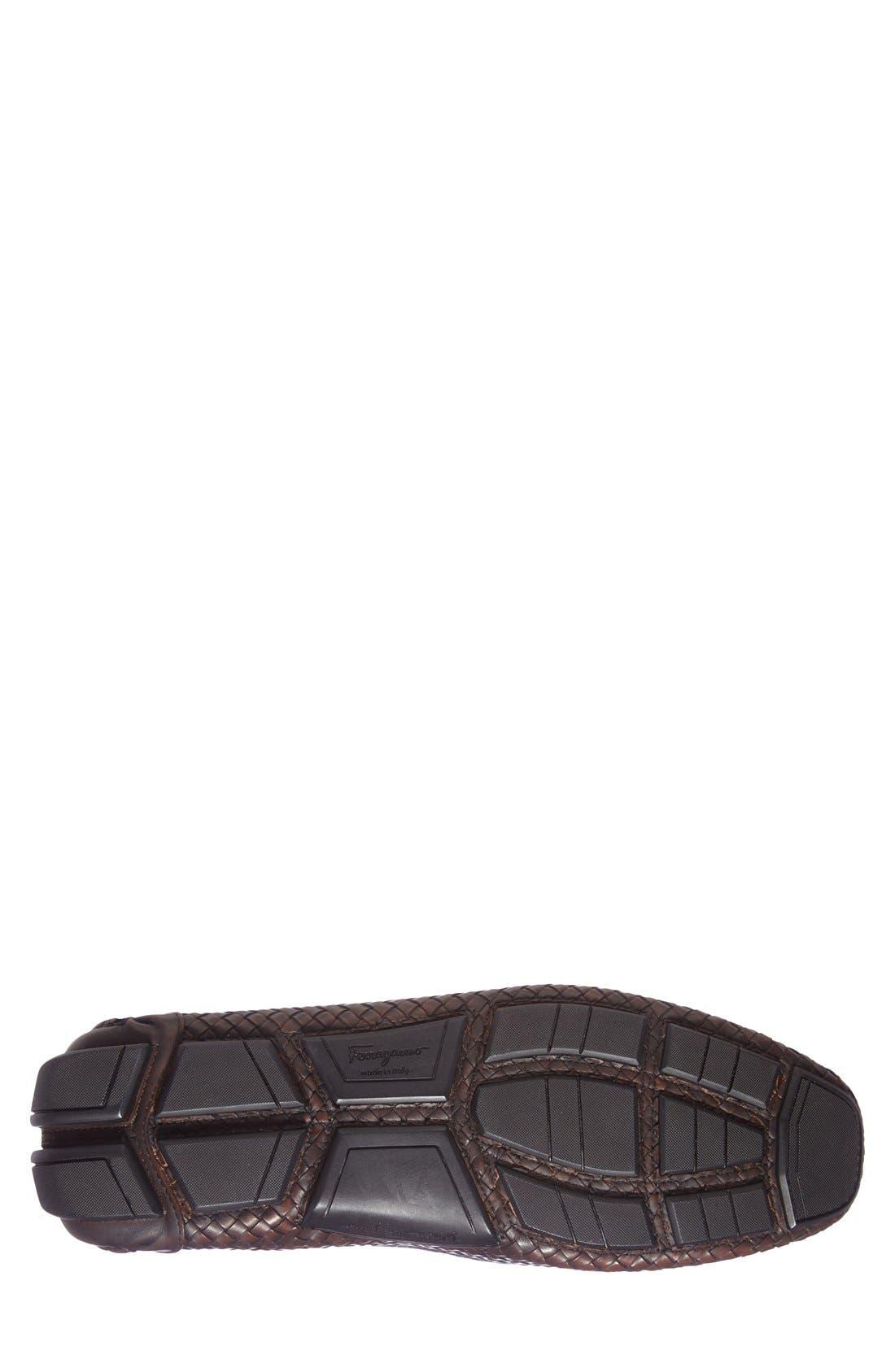 'Parigi' Woven Bit Loafer,                             Alternate thumbnail 4, color,                             Brown Hen/ T Moro Leather