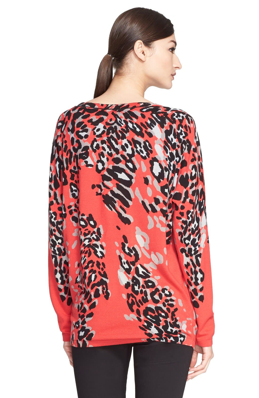 Alternate Image 2  - ESCADA Leopard Print Wool Blend Tunic