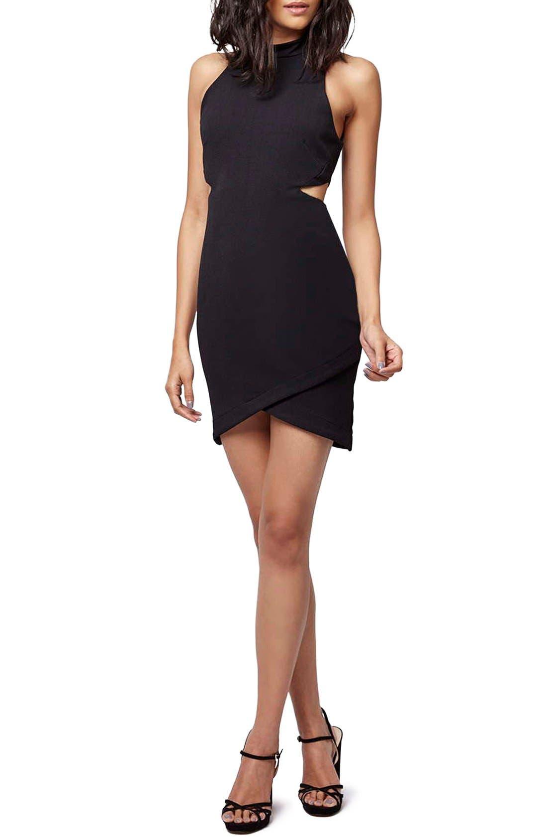 Main Image - Topshop Cutout Body-Con Dress (Petite)