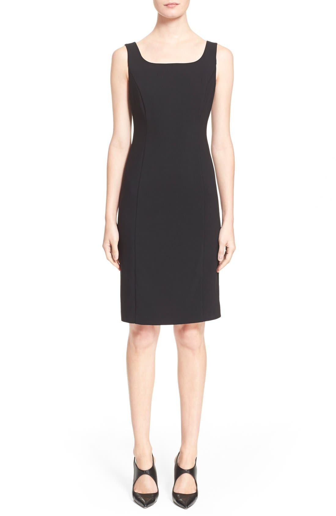 Main Image - Armani Collezioni Featherweight Wool Dress