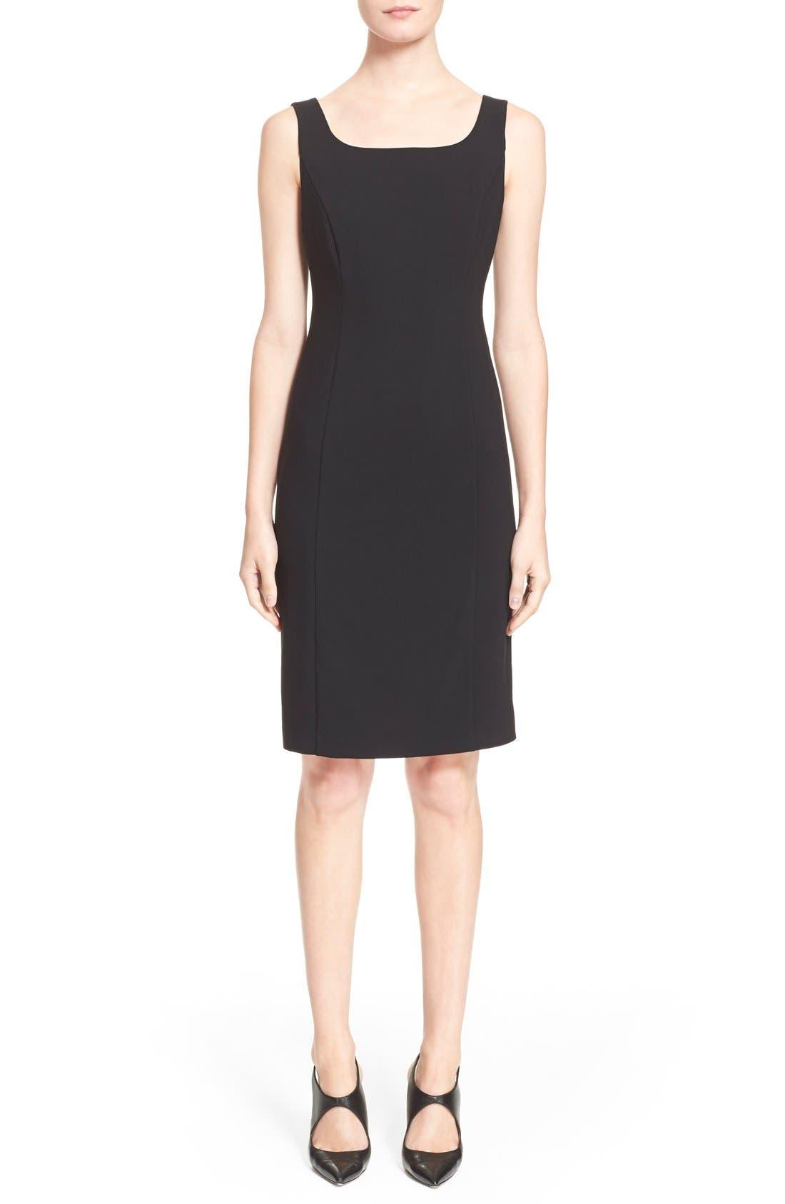 Main Image - Armani Collezioni Featherweight Wool Dress