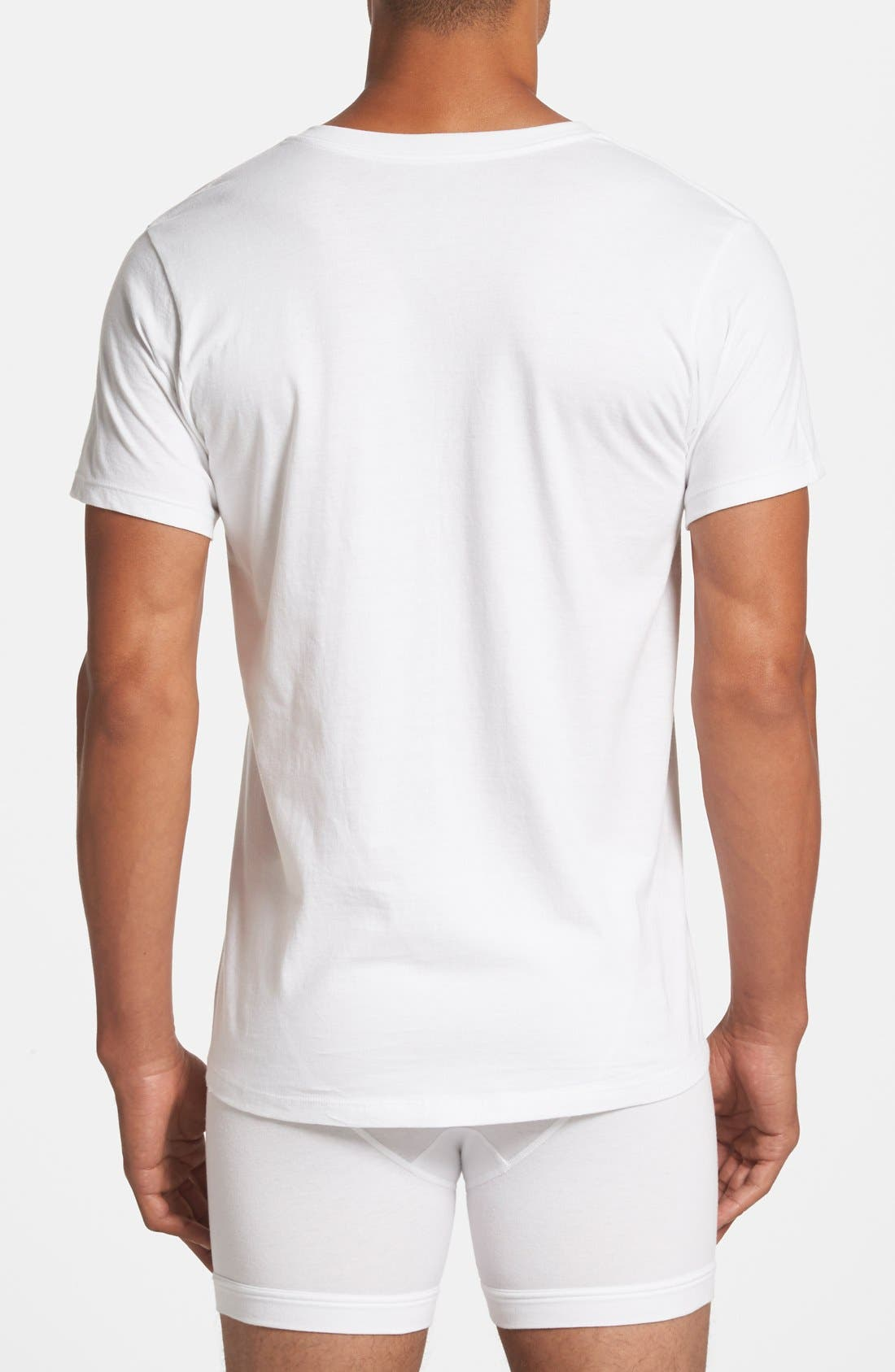 2-Pack Cotton T-Shirt,                             Alternate thumbnail 3, color,                             White