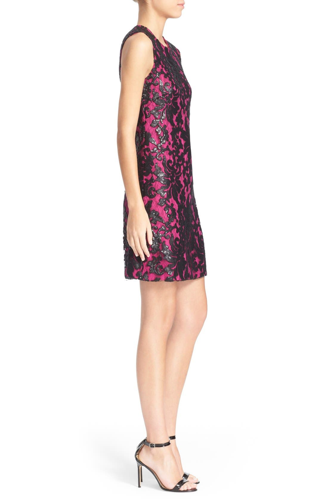 Alternate Image 3  - Diane von Furstenberg 'Kaleb' Embellished Lace Sheath Dress