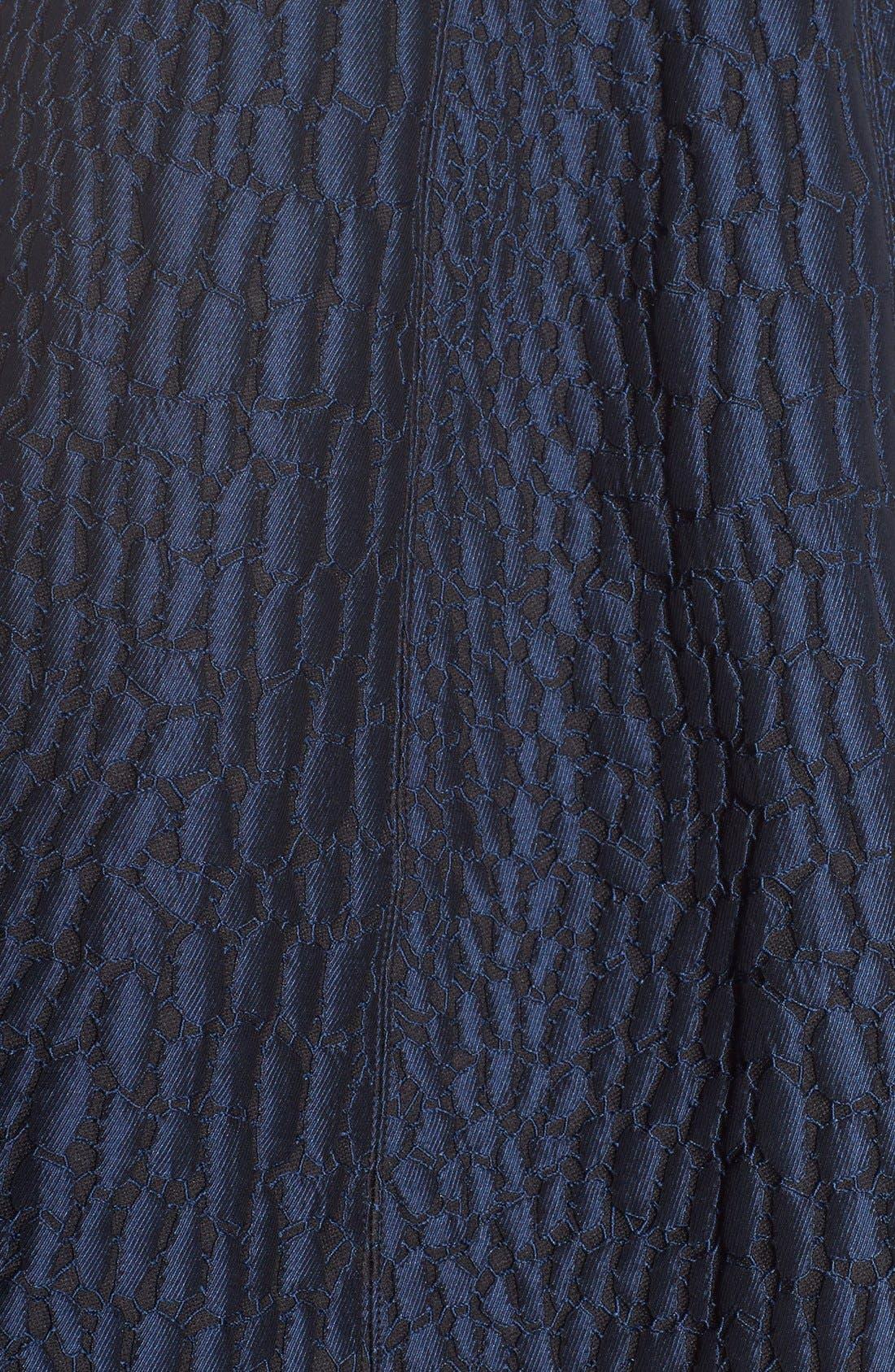 Alternate Image 5  - Halston Heritage Halter Jacquard Fit & Flare Dress