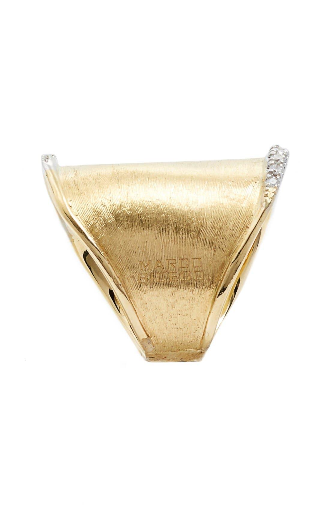 'Lunaria' Diamond Ring,                             Alternate thumbnail 2, color,                             Yellow Gold