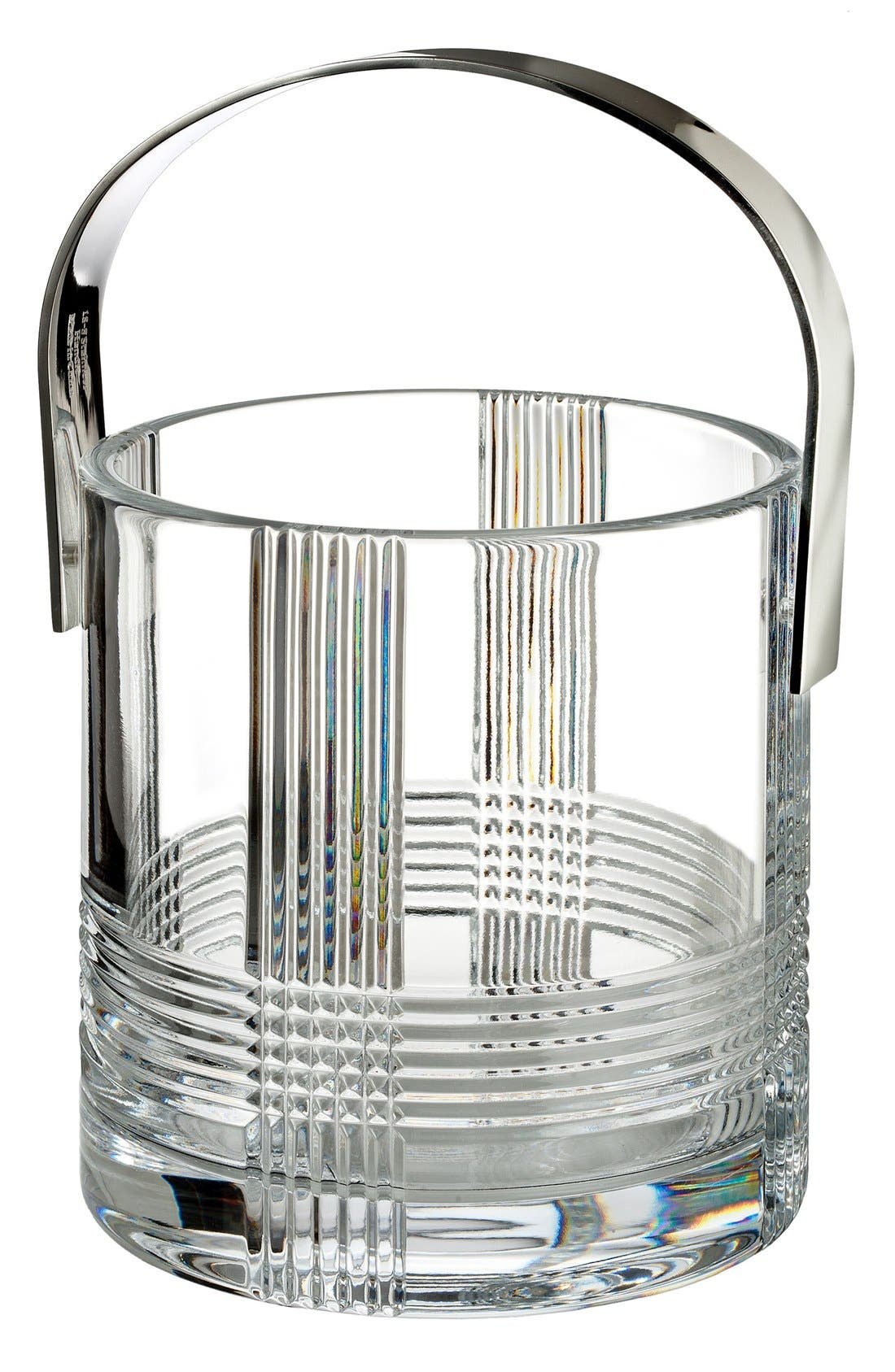 'Fan Club' Lead Crystal Ice Bucket,                             Main thumbnail 1, color,                             Clear