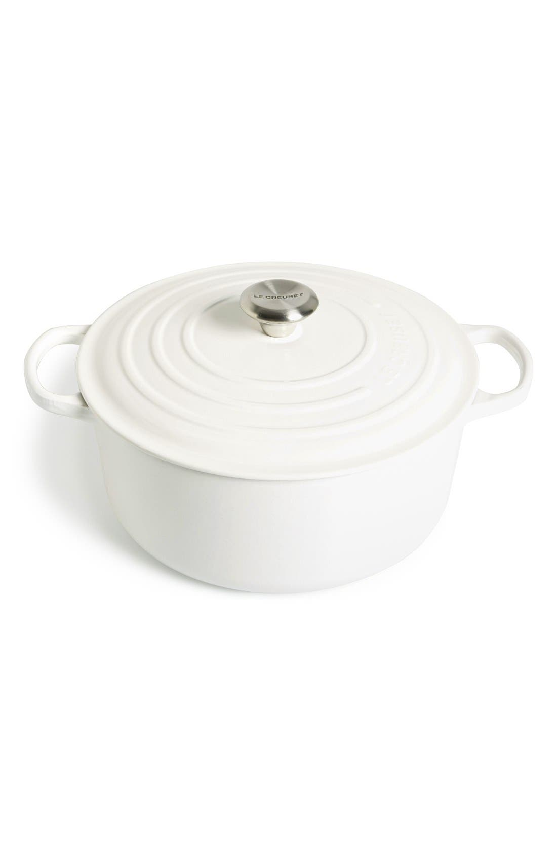 Main Image - Le Creuset Signature 7 1/4 Quart Round Enamel Cast Iron French/Dutch Oven