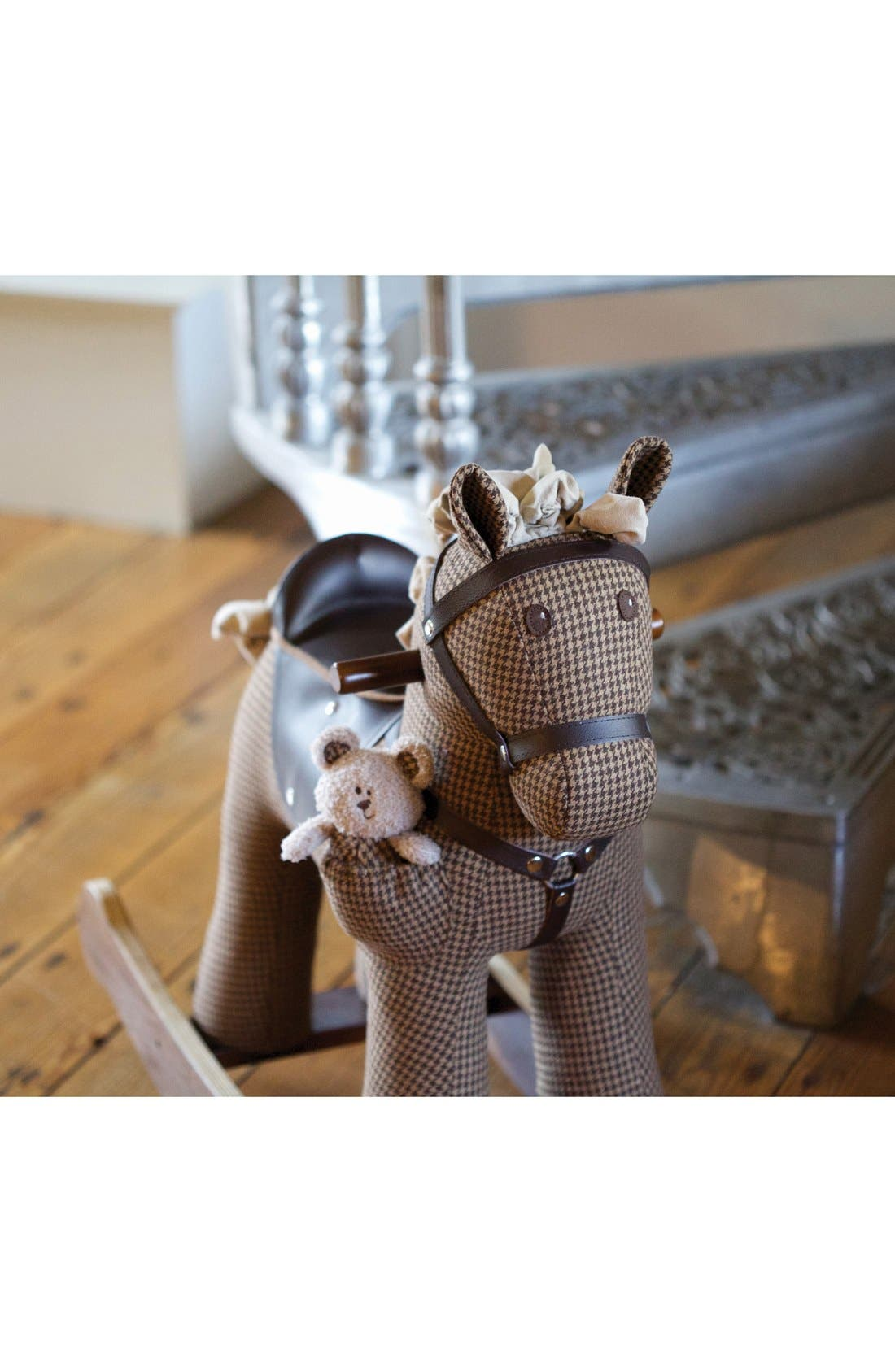 Rocking Horse & Stuffed Animal,                             Alternate thumbnail 4, color,                             Houndstooth