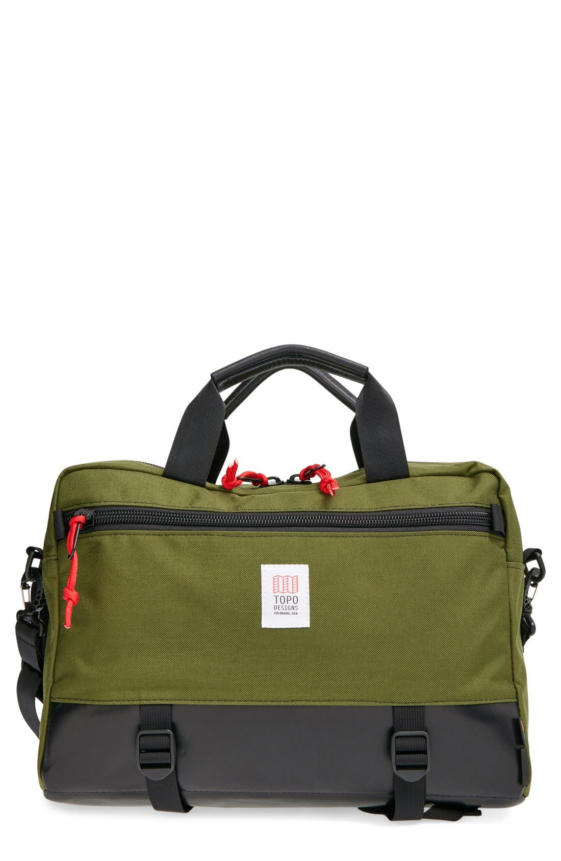 TOPO DESIGNS 'COMMUTER' BRIEFCASE - GREEN