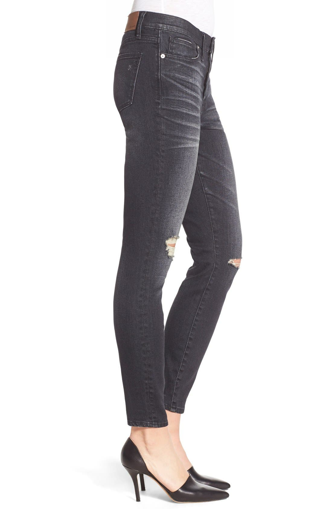 'High Riser' Skinny Skinny Jeans,                             Alternate thumbnail 4, color,                             Kincaid Wash