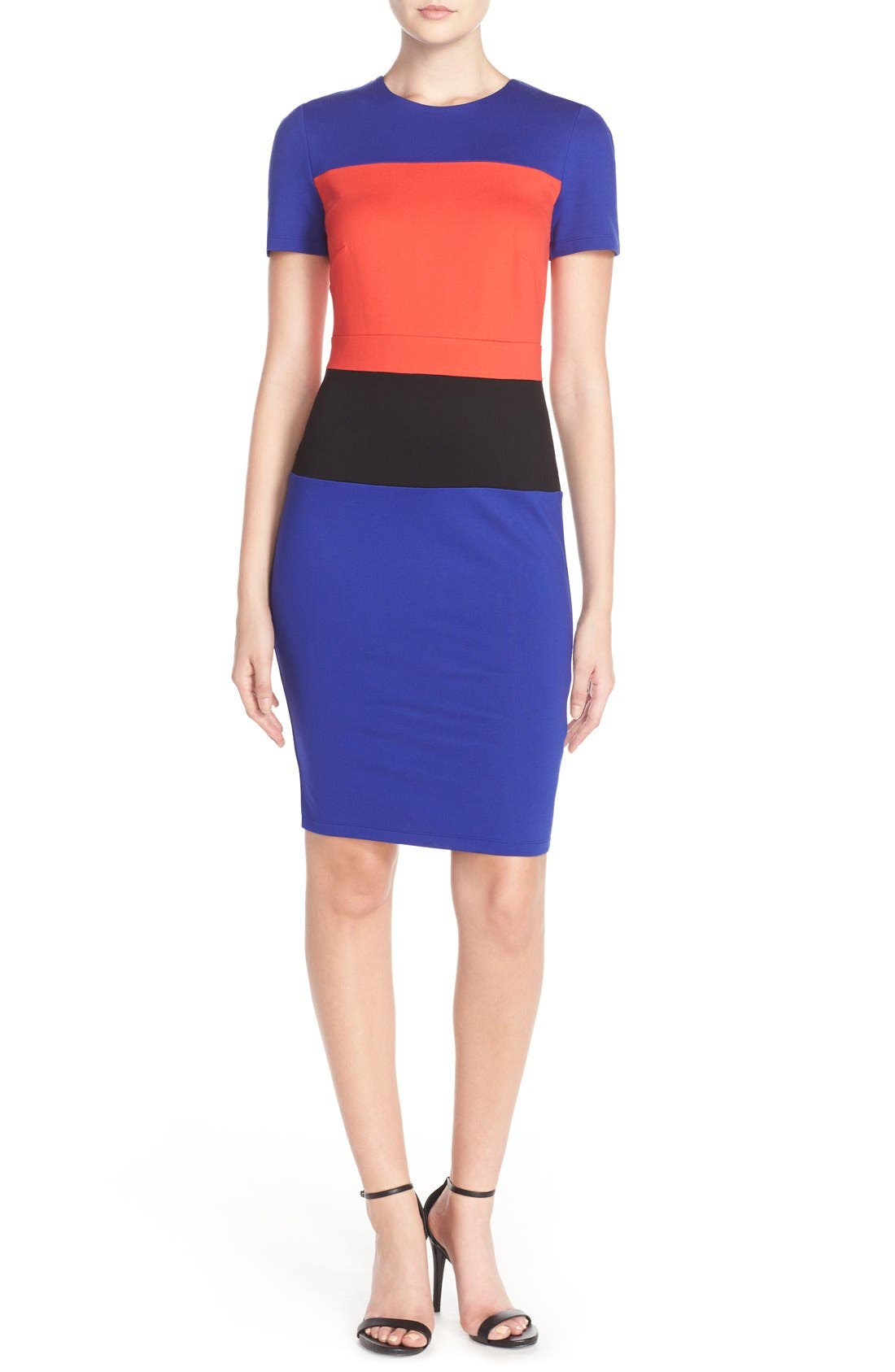 Alternate Image 4  - French Connection ColorblockJersey Sheath Dress