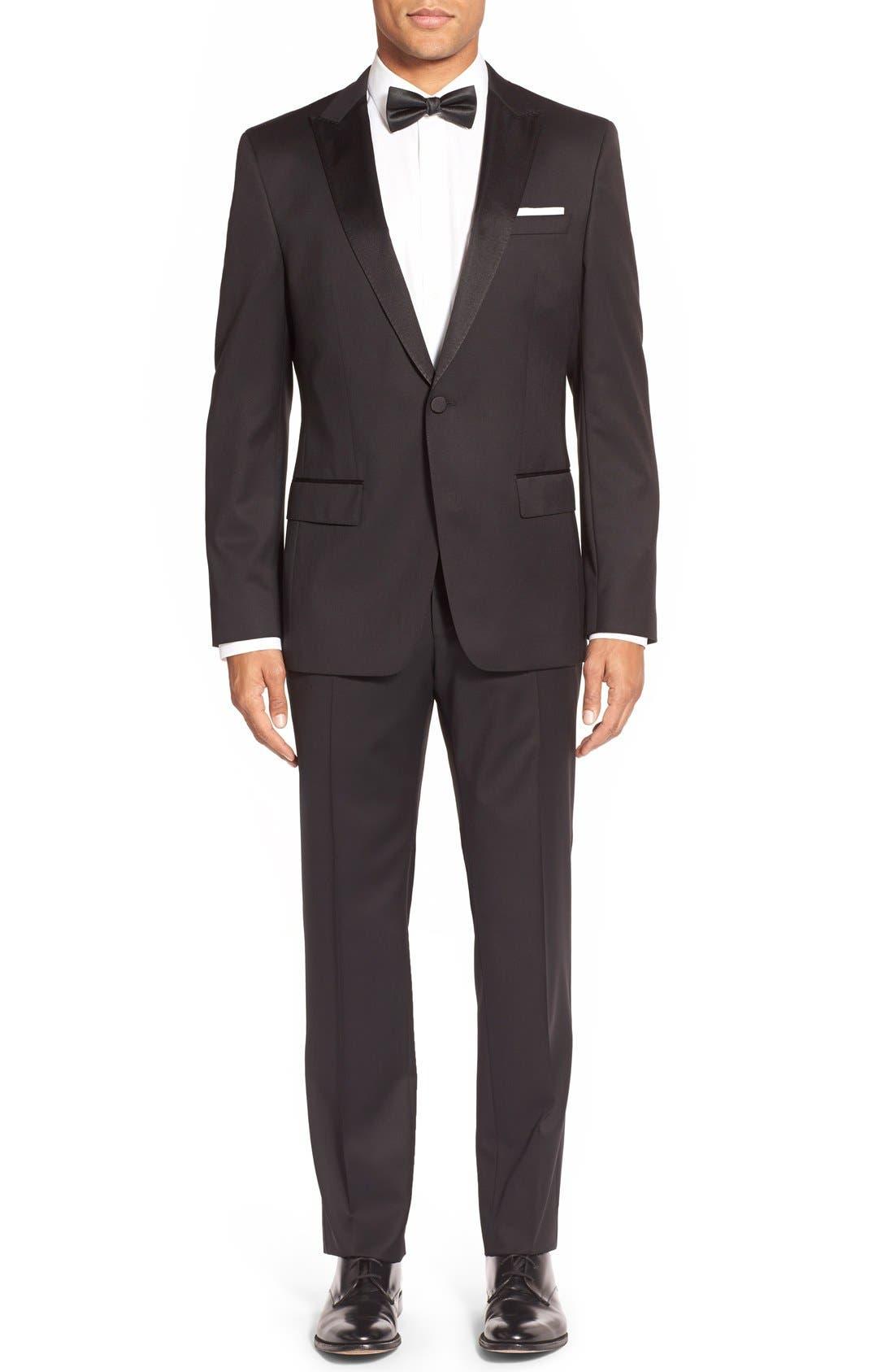 Alternate Image 1 Selected - BOSS Trim Fit Wool Tuxedo