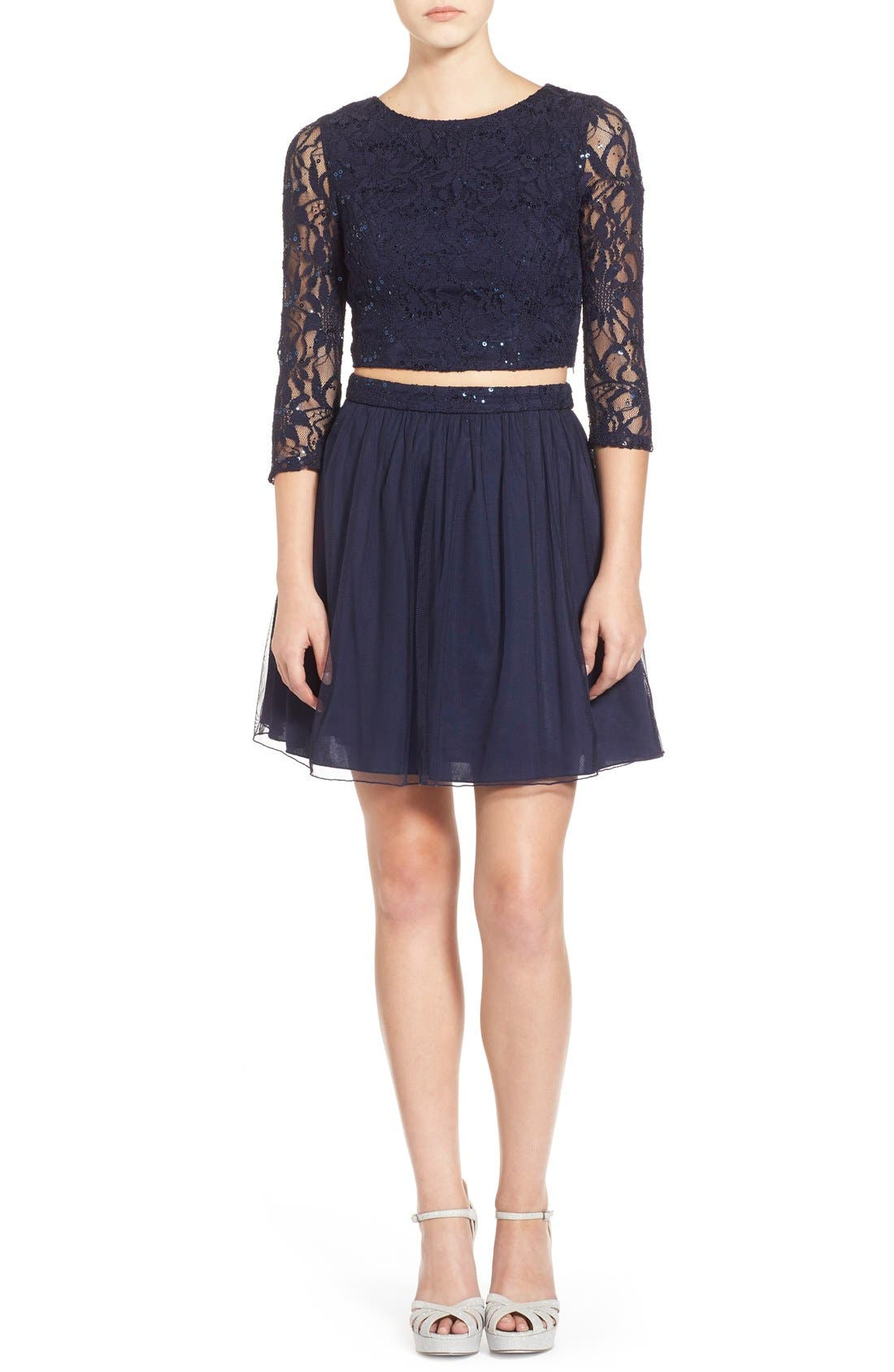 Speechless Lace Two Piece Dress Nordstrom