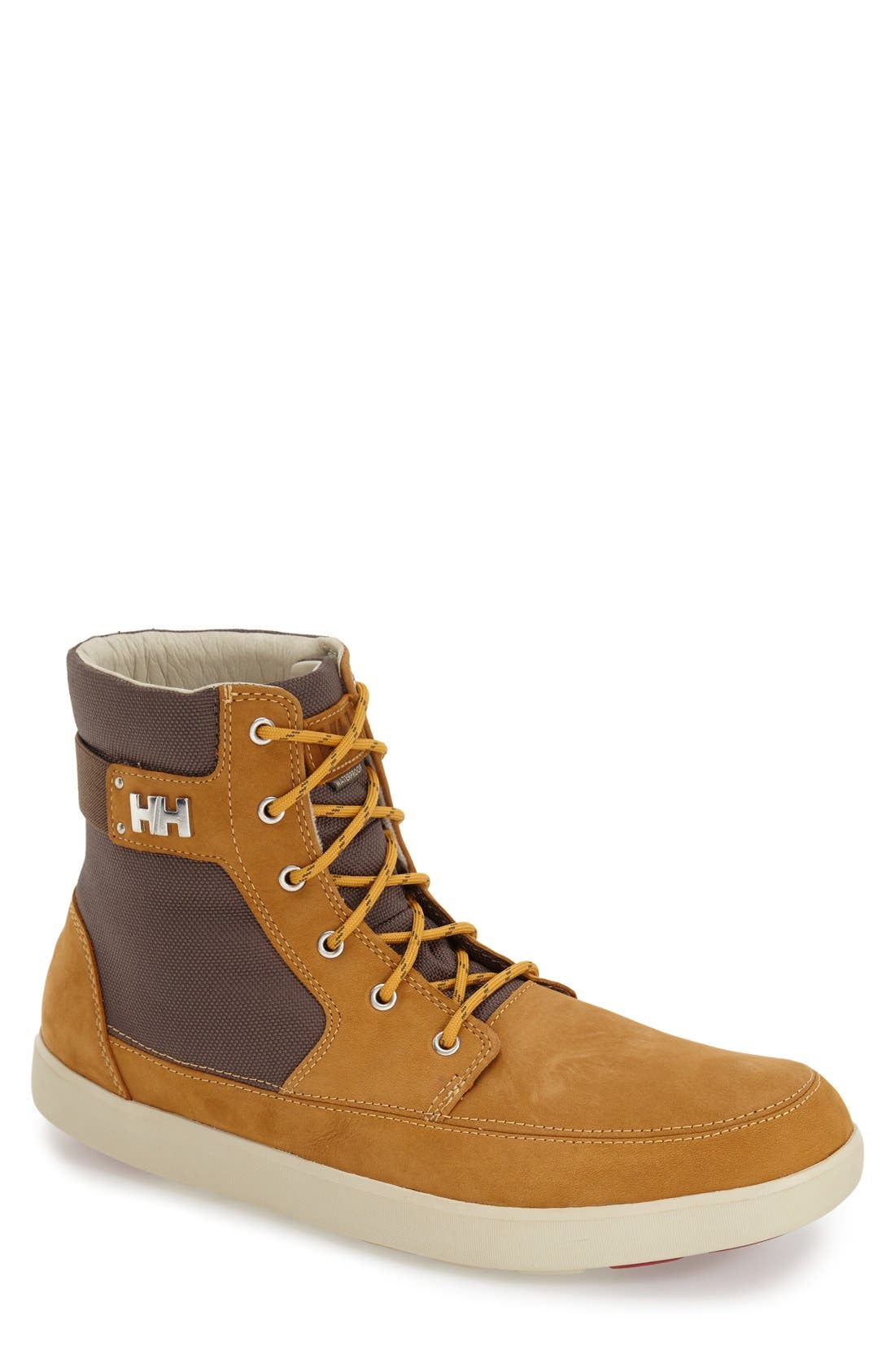 'Stockholm' Waterproof High Top Sneaker,                             Main thumbnail 1, color,                             New Wheat