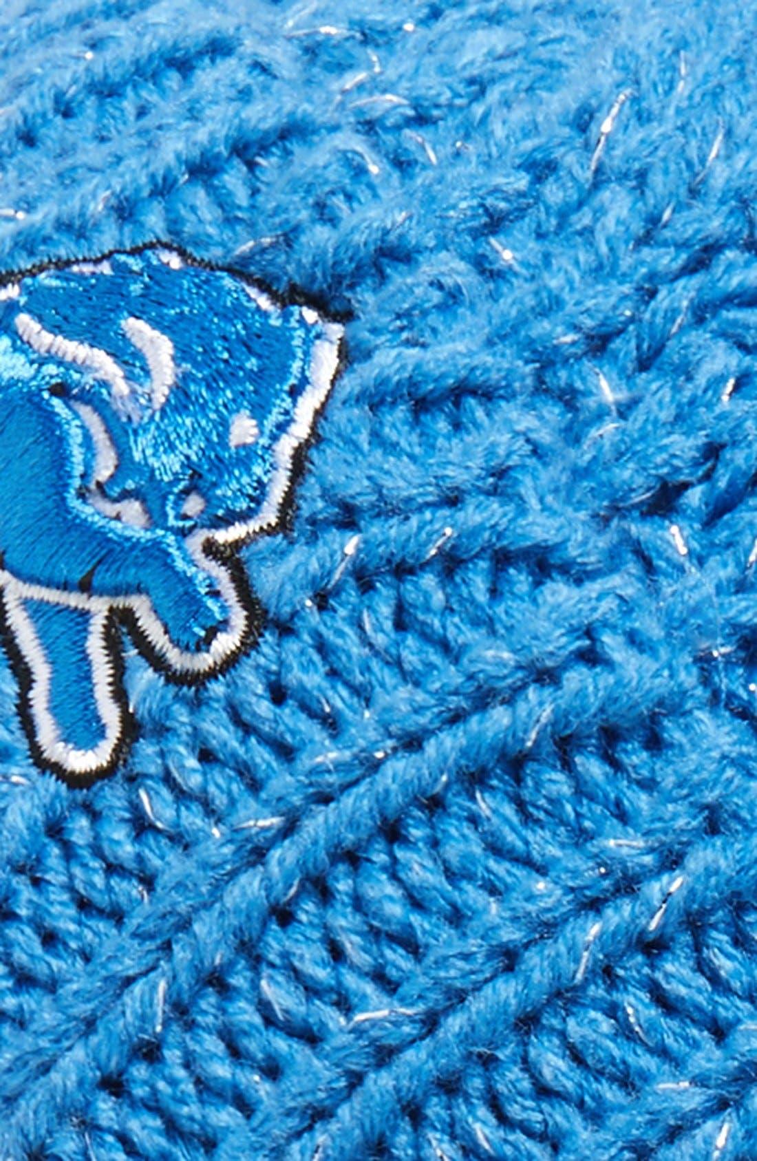 Alternate Image 2  - 47 Brand 'Detroit Lions' Pom Beanie