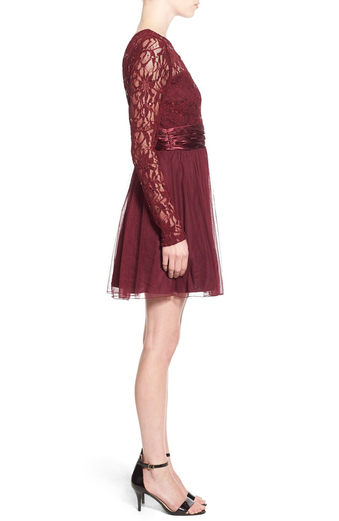 Alternate Image 3  - Speechless Lace Bodice Fit & Flare Dress