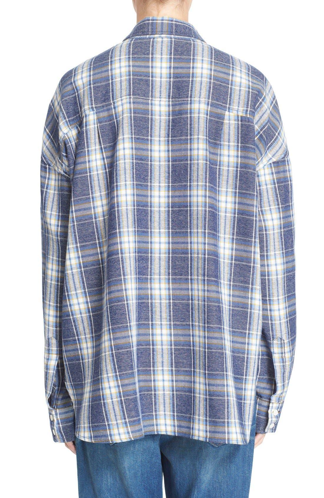 Alternate Image 2  - 6397 'Lori' Cotton Flannel Shirt