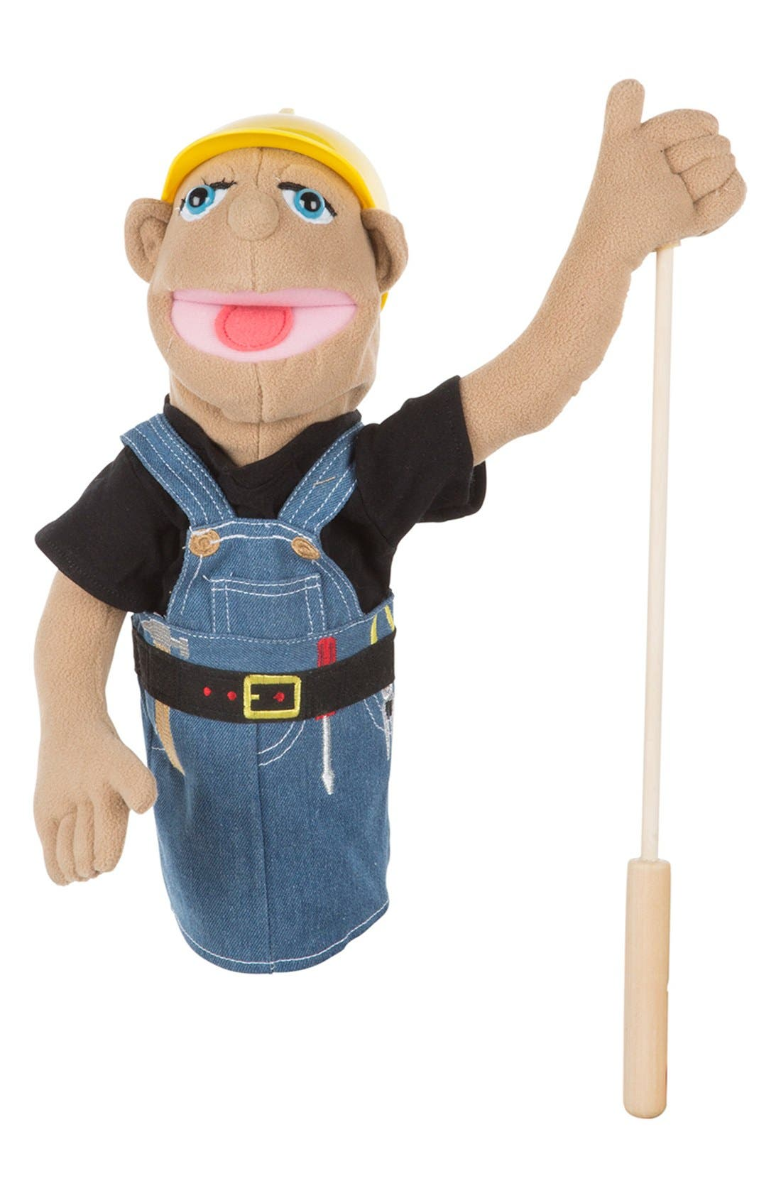 Construction Worker Puppet,                             Alternate thumbnail 2, color,                             Brown