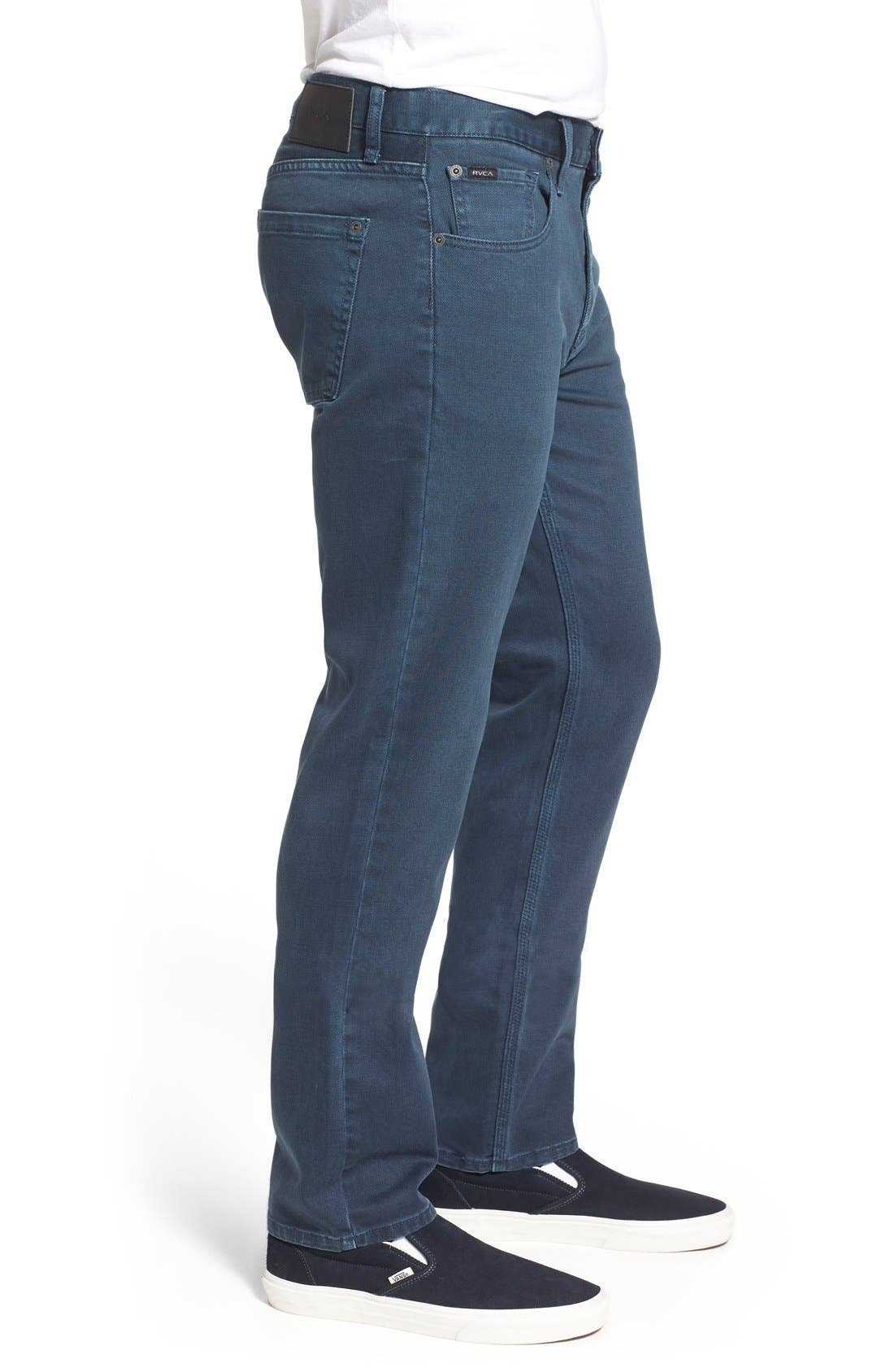 Alternate Image 3  - RVCA 'Daggers' Slim Fit Jeans (Army Drab)