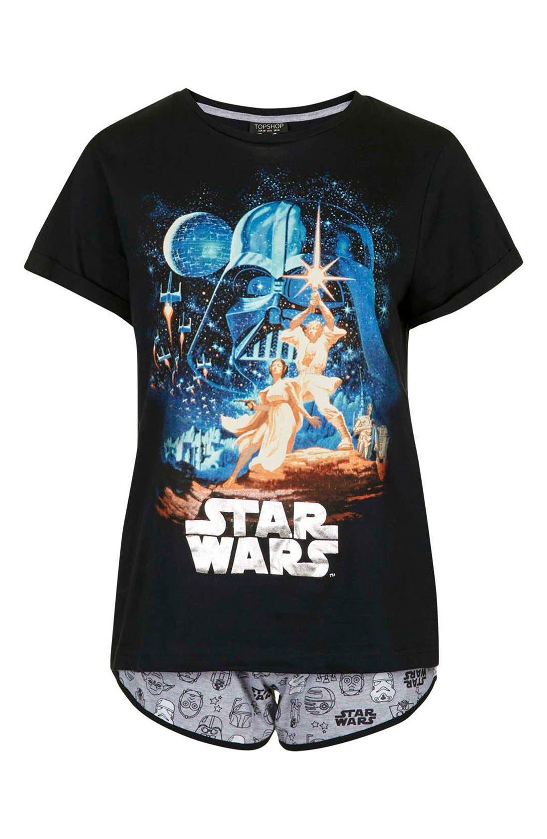 Alternate Image 3  - Topshop Star Wars Pajama Tee & Shorts