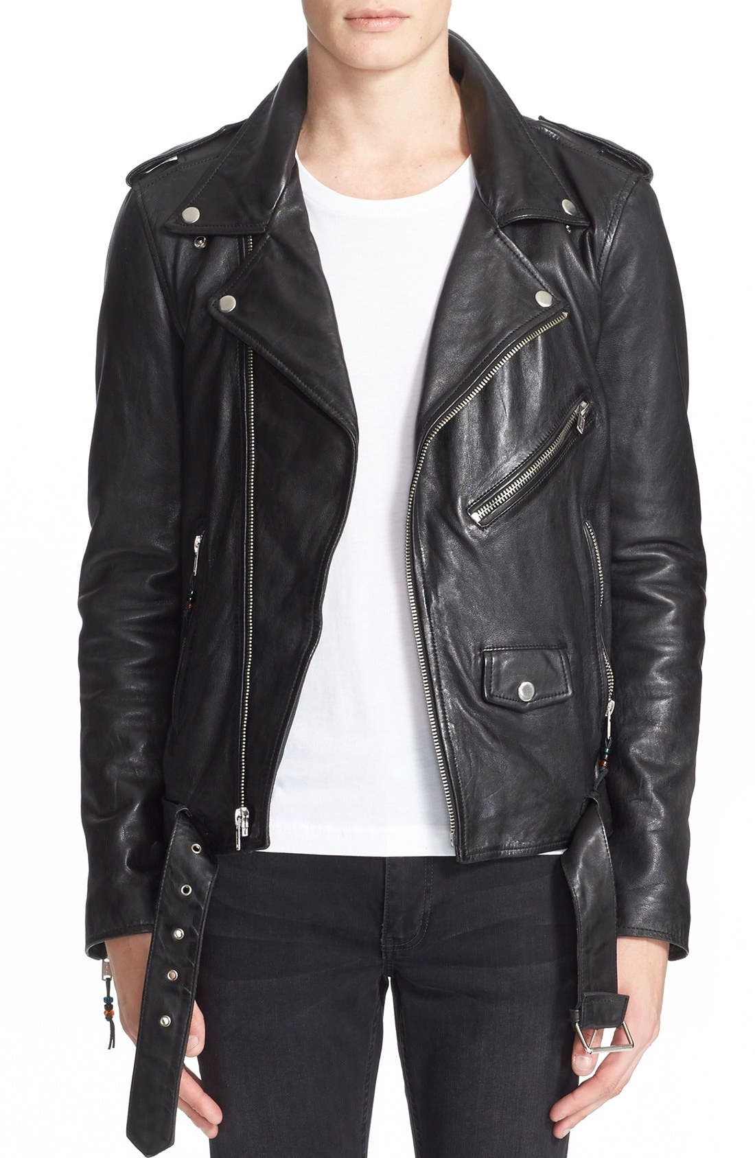 Alternate Image 1 Selected - BLK DNM 'Leather Jacket 5' Leather Moto Jacket