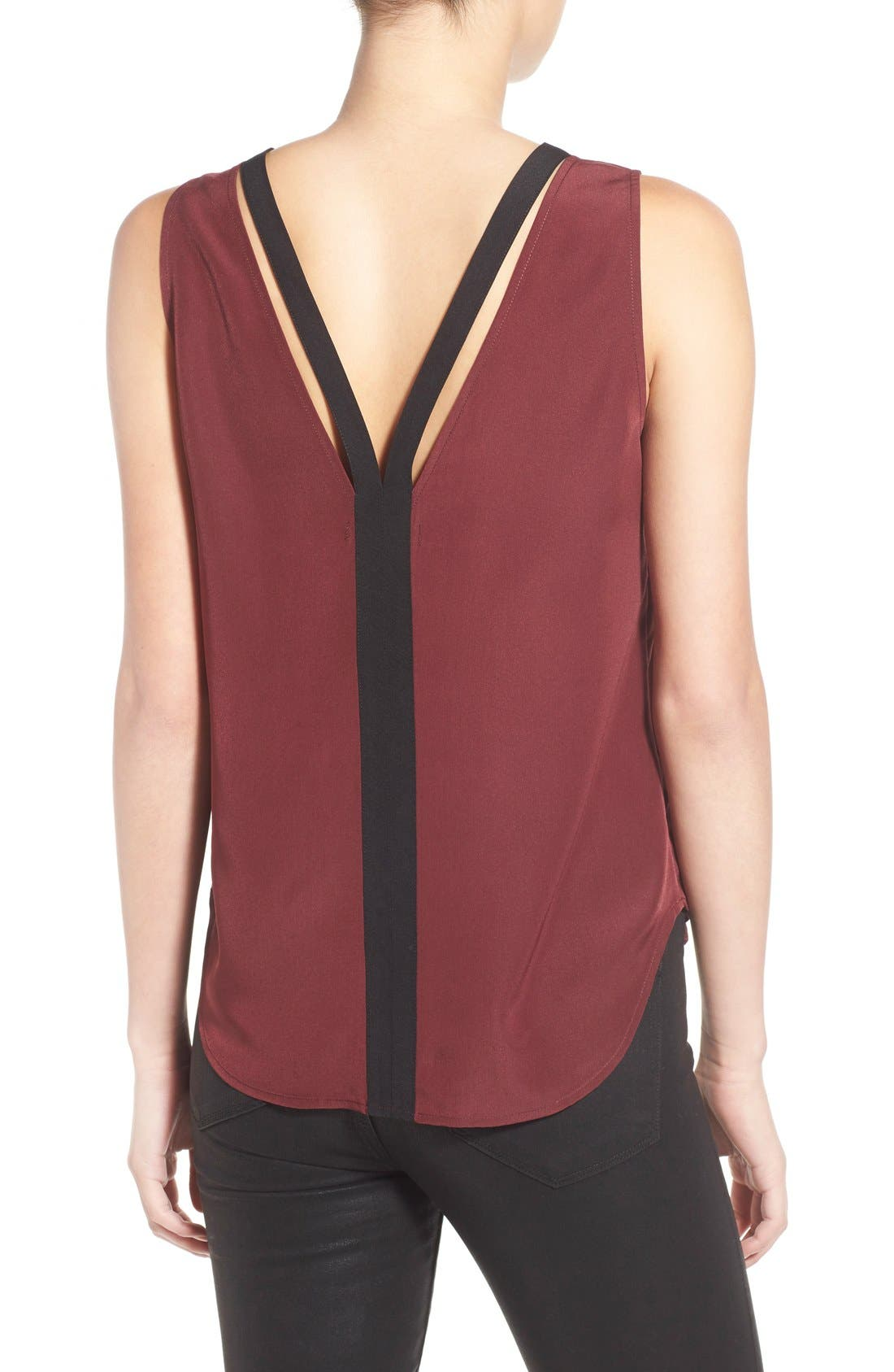 Alternate Image 2  - Trouvé 'Double V' Crepe Tank