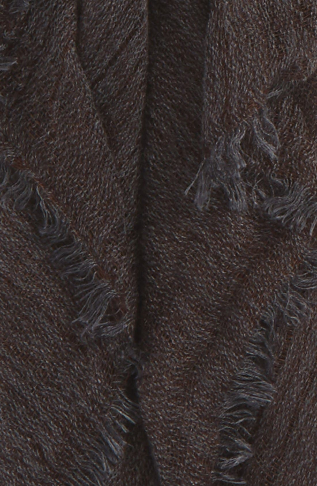 Fringe Scarf,                             Alternate thumbnail 3, color,                             Charcoal