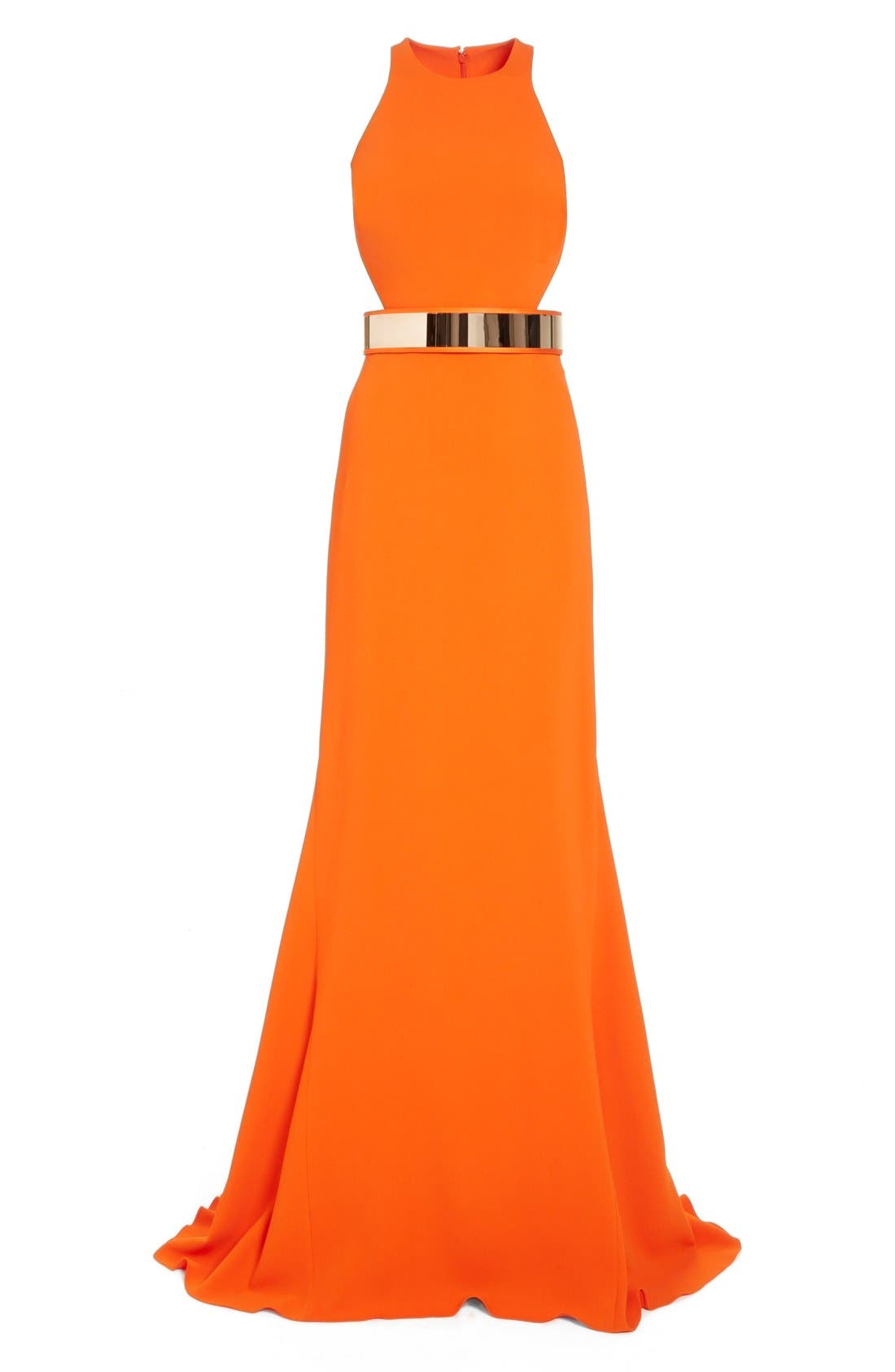 Alternate Image 4  - Stella McCartney Belted Stretch Cady Gown