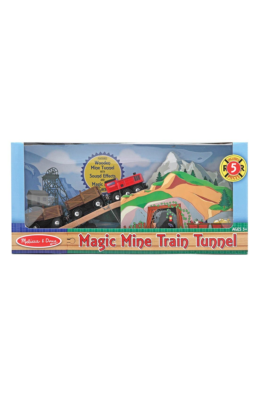 Alternate Image 2  - Melissa & Doug 'Magic Mine Train Tunnel' Wooden Train Toy