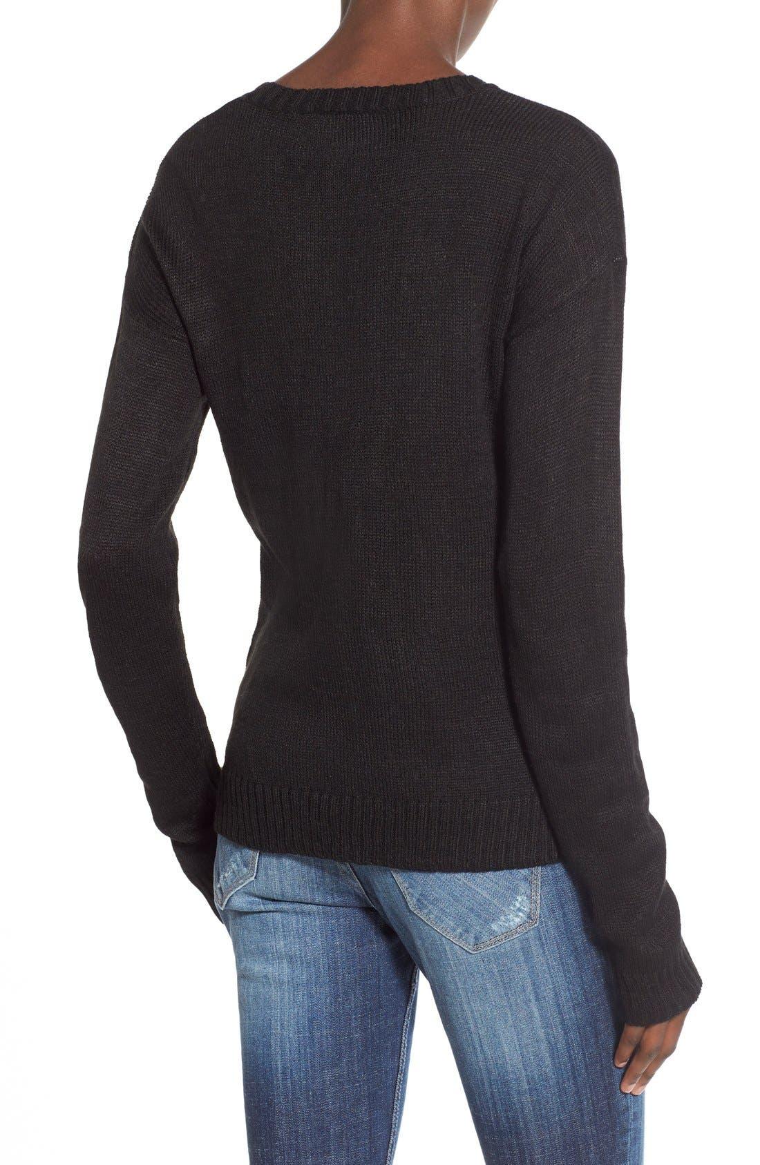Alternate Image 2  - Derek Heart 'Naughty List' Christmas Sweater