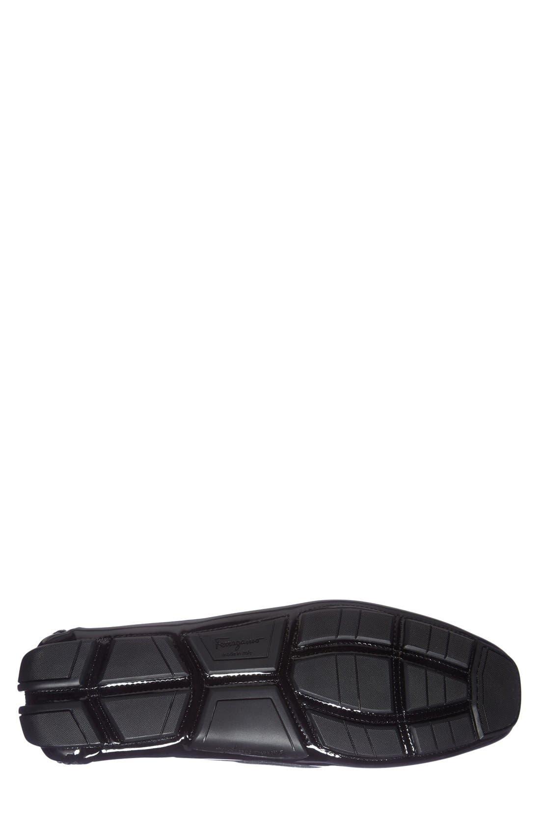 Alternate Image 4  - Salvatore Ferragamo 'Parigi' Patent Leather Driving Shoe (Men)