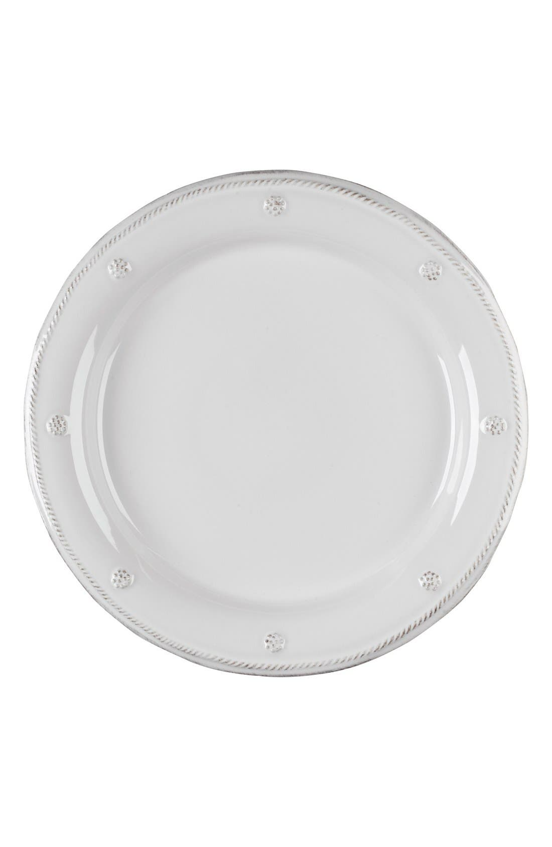'Berry and Thread' Dinner Plate,                             Main thumbnail 1, color,                             Whitewash