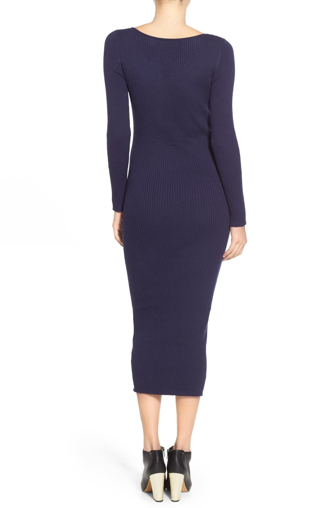 Alternate Image 2  - Leith Ribbed Sweater Dress