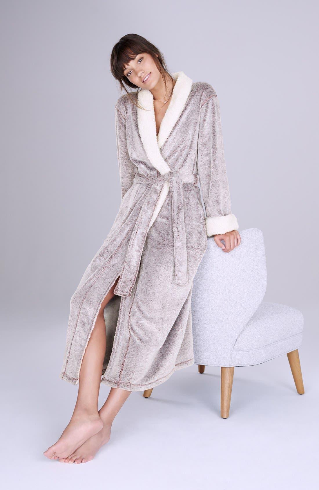 Plush Velour Robe,                             Alternate thumbnail 2, color,