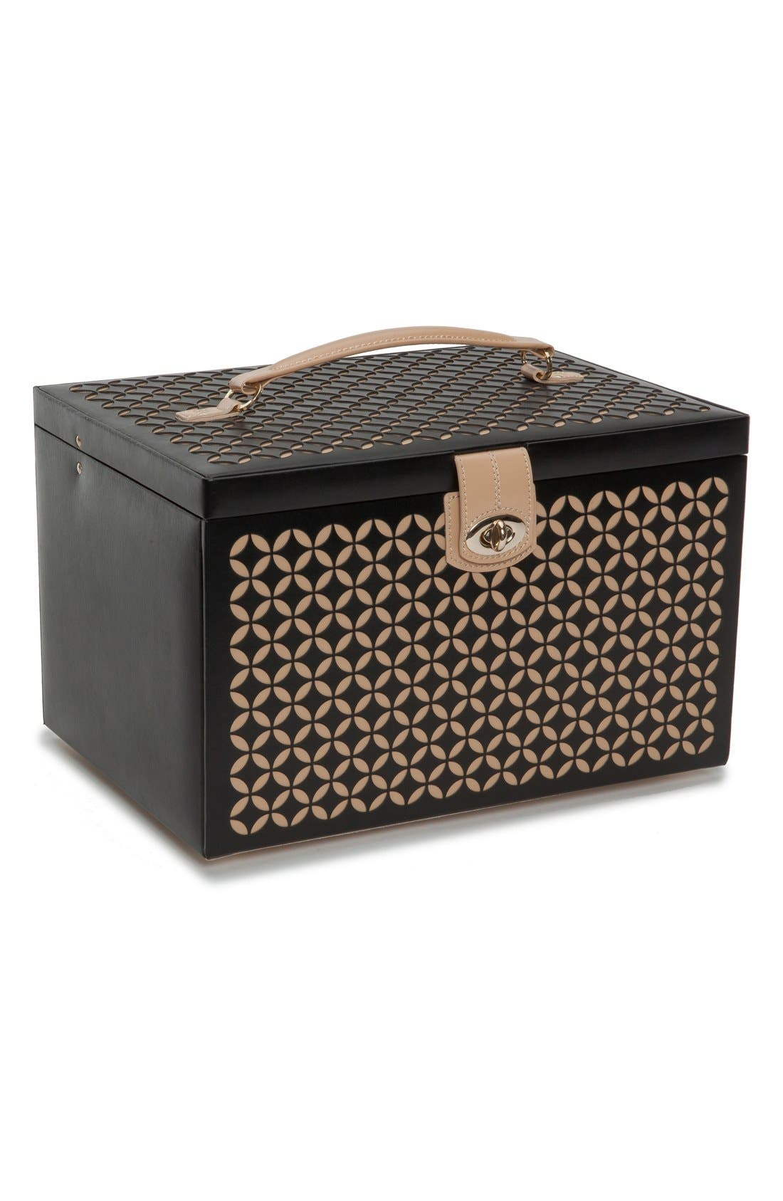 'Chloe' Jewelry Box,                             Main thumbnail 1, color,                             Black