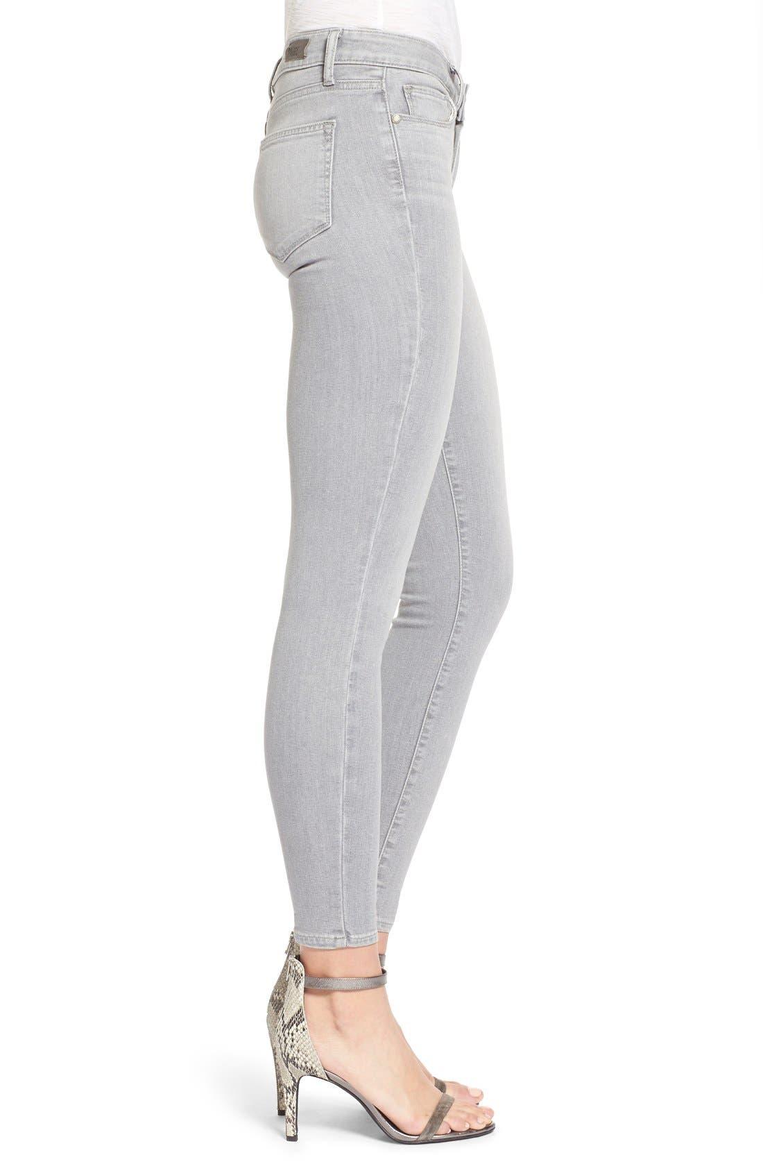 Alternate Image 4  - Paige Denim 'Verdugo' Ankle Skinny Jeans (Dove Grey)