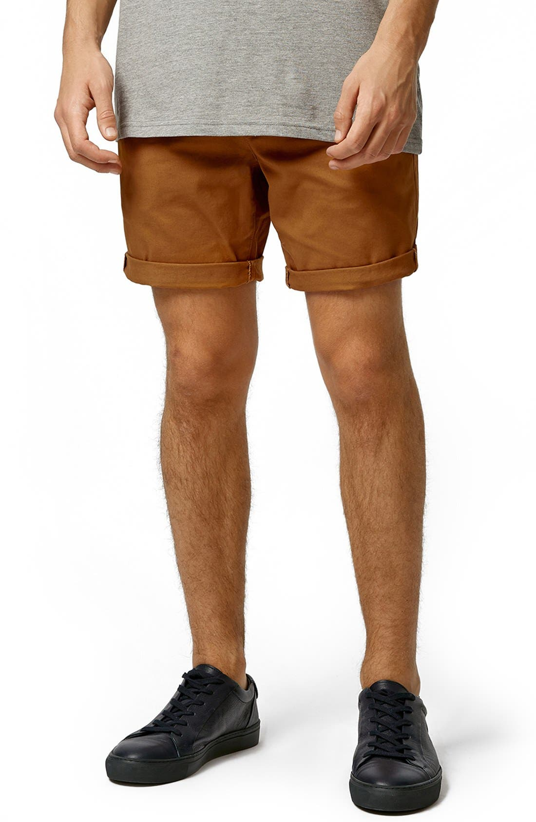 Chino Shorts,                             Main thumbnail 1, color,                             Mustard
