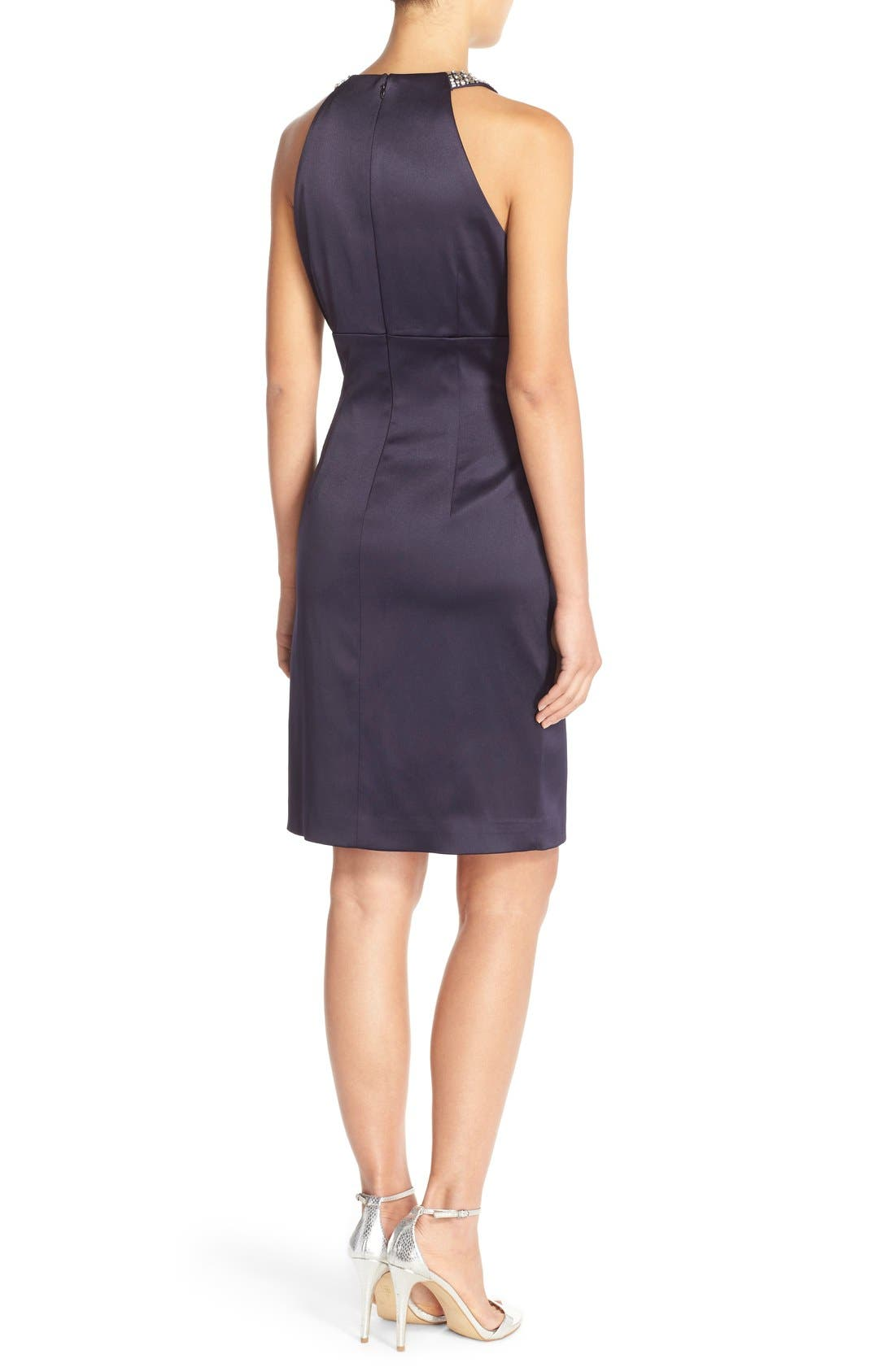 Alternate Image 2  - Eliza J Embellished Neck Sheath Dress