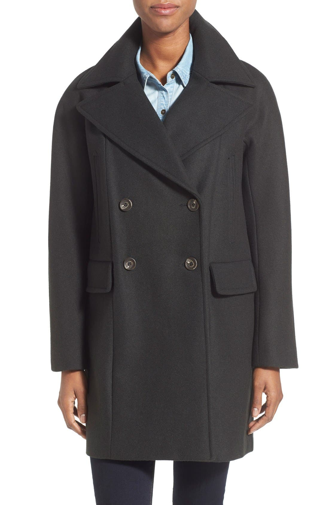 Main Image - Vince Camuto Double Breasted Peacoat