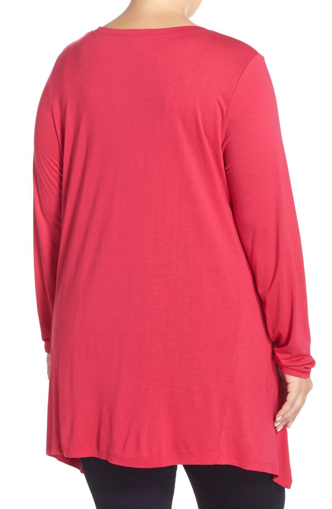 Alternate Image 2  - Sejour Handkerchief Hem Tunic Top (Plus Size)