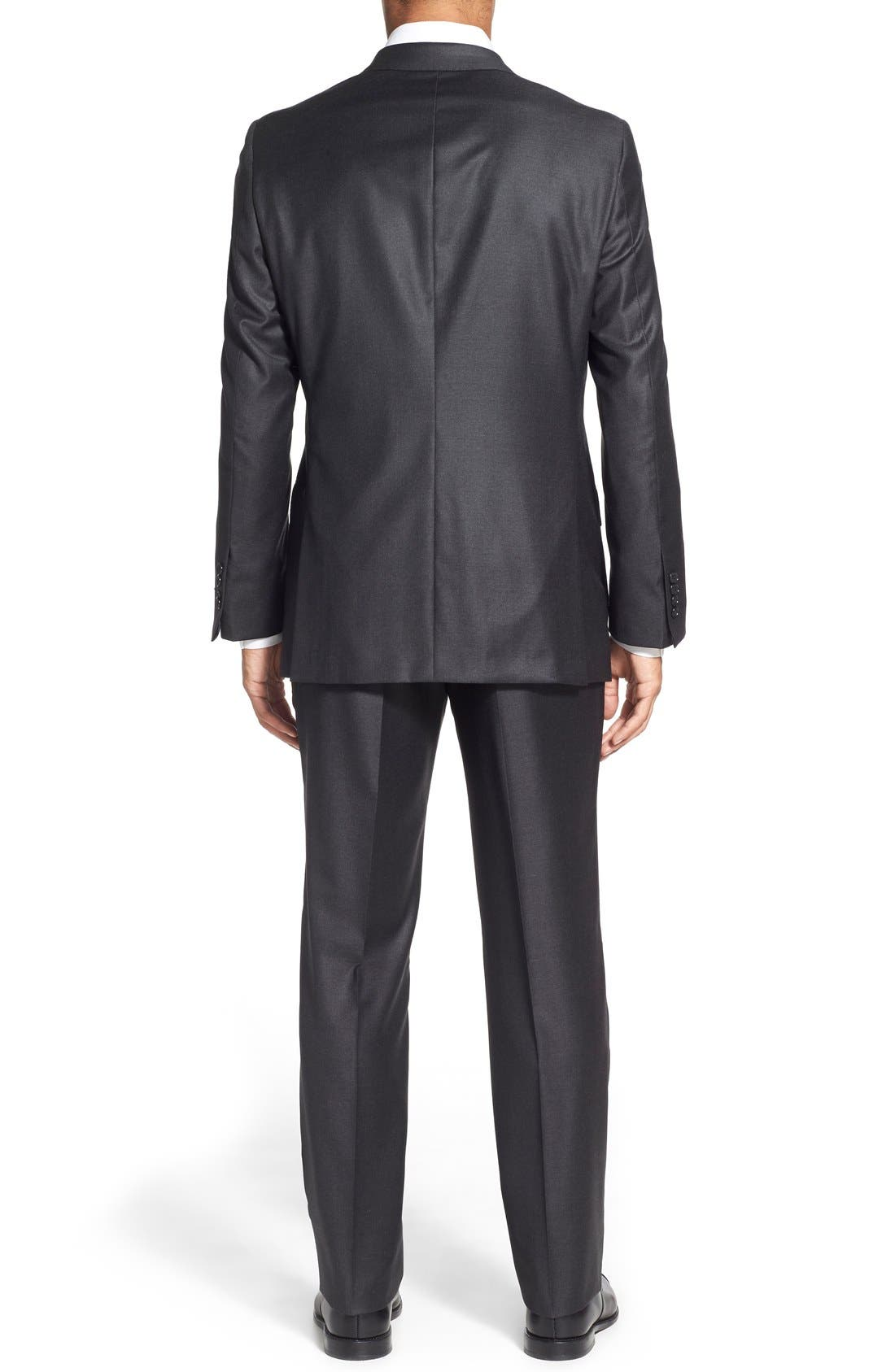 Alternate Image 2  - Hickey Freeman Classic B Fit Solid Wool Suit