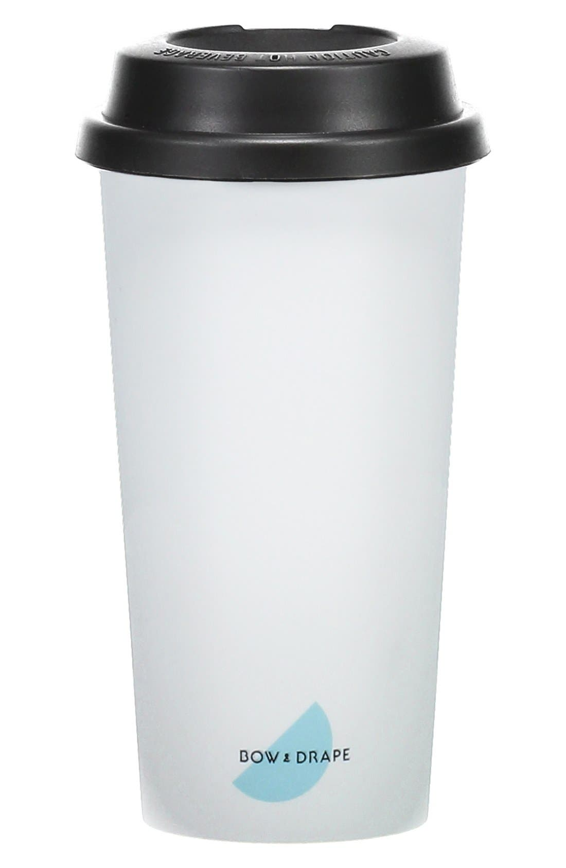 Alternate Image 2  - Bow & Drape 'Bah Humbug' Travel Mug