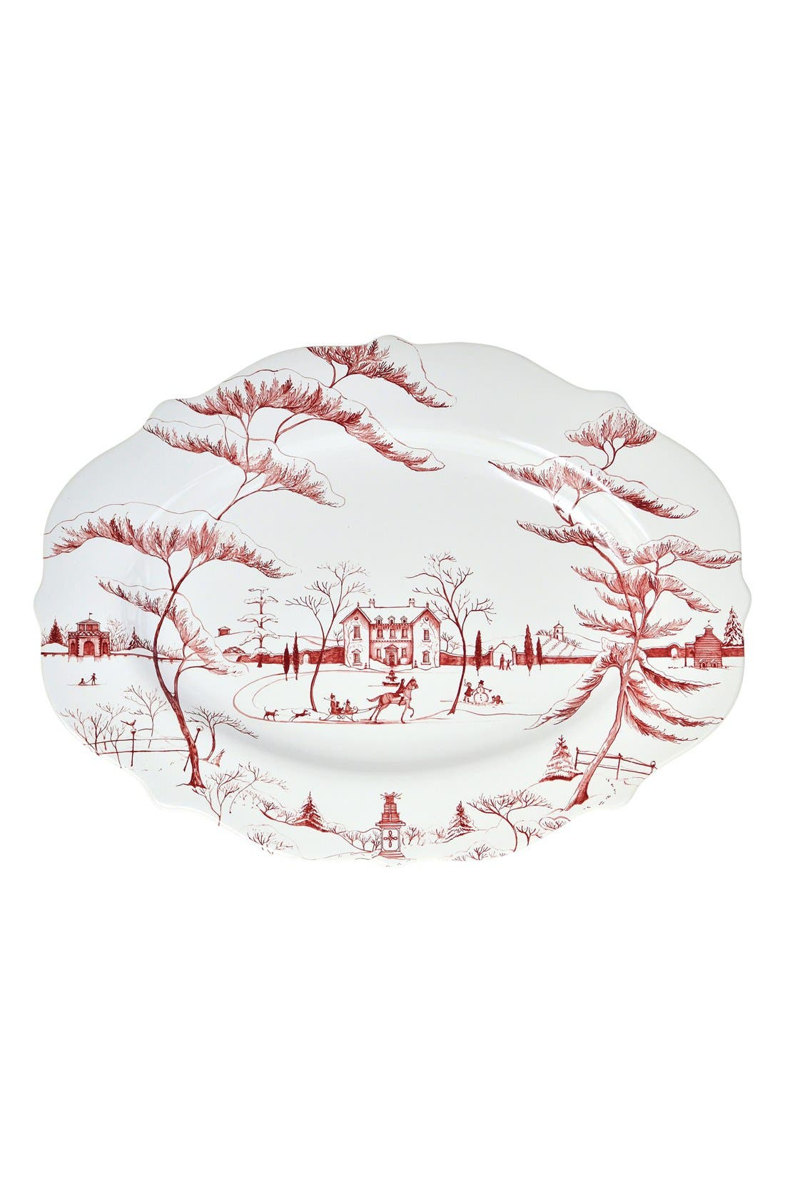 'Country Estate Ruby' Ceramic Serving Platter,                         Main,                         color, Ruby