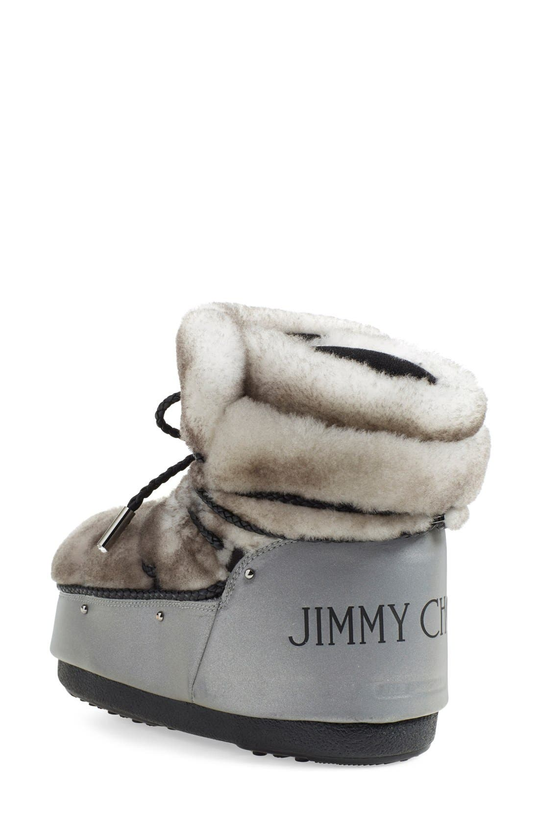 Alternate Image 2  - Jimmy Choo Genuine Shearling Moon Boot® (Women)