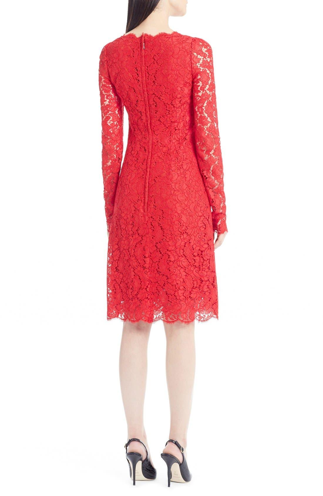 Alternate Image 2  - Dolce&Gabbana Square Neck Lace Dress