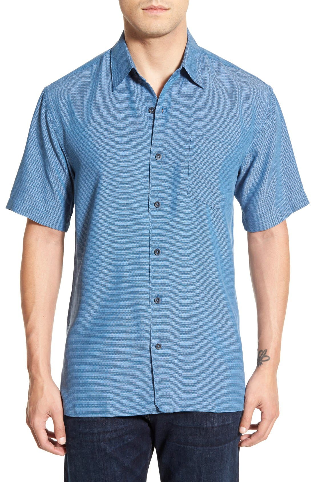 'Wind N Sea' Regular Fit Sport Shirt,                             Main thumbnail 1, color,                             Navy