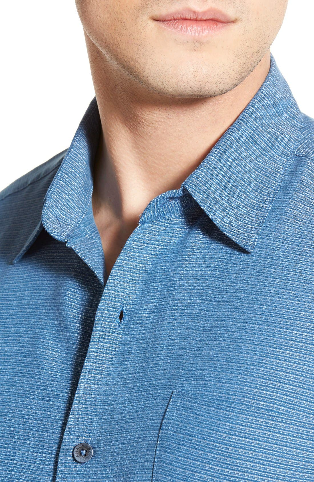 'Wind N Sea' Regular Fit Sport Shirt,                             Alternate thumbnail 4, color,                             Navy