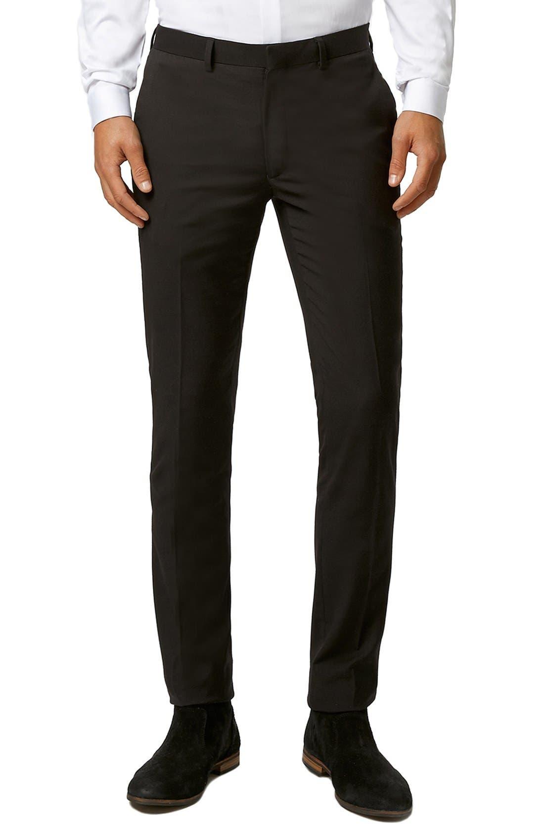 Topman Ultra Skinny Black Suit Trousers