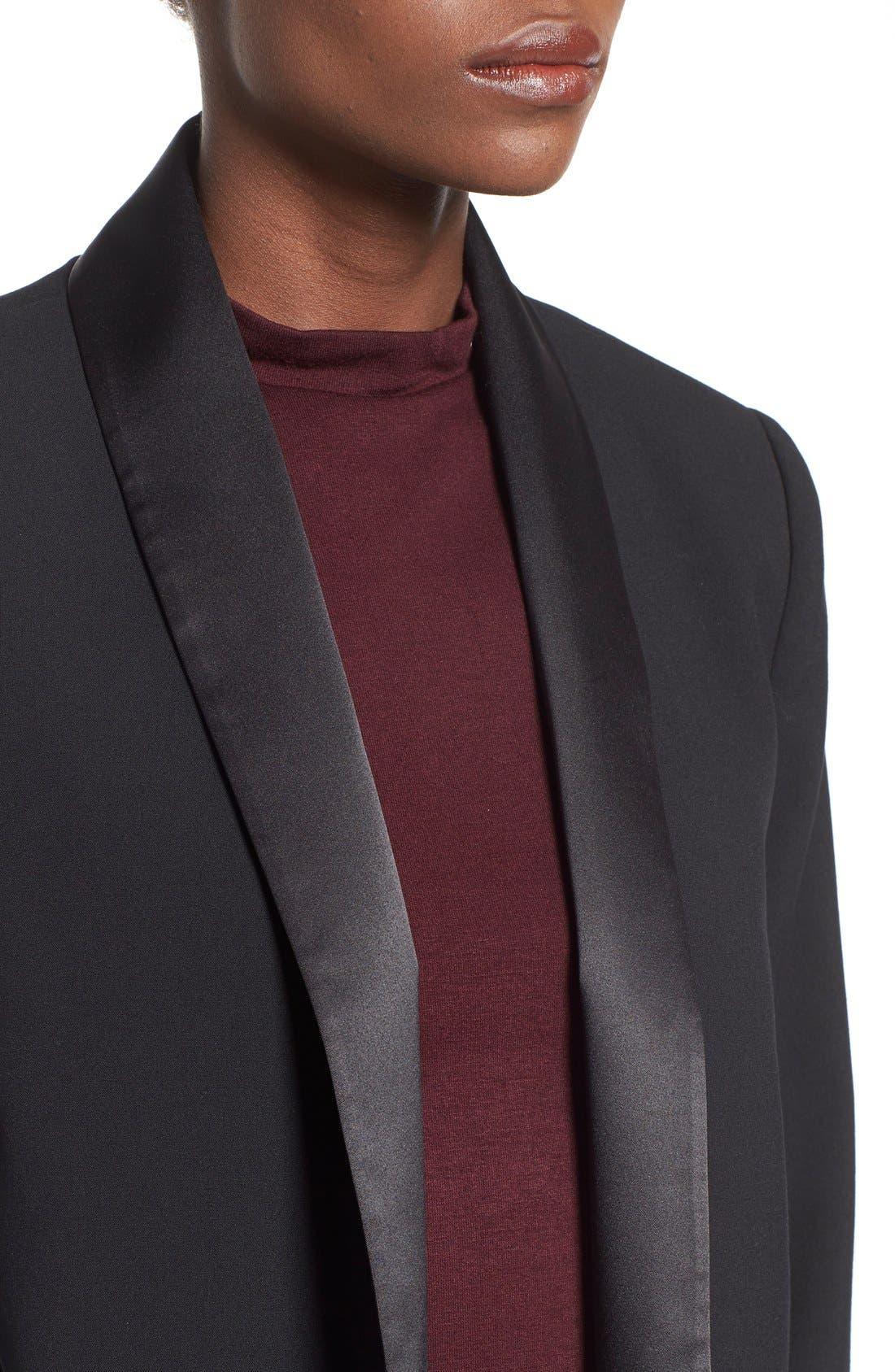 Alternate Image 5  - Mural Open Front Tuxedo Blazer