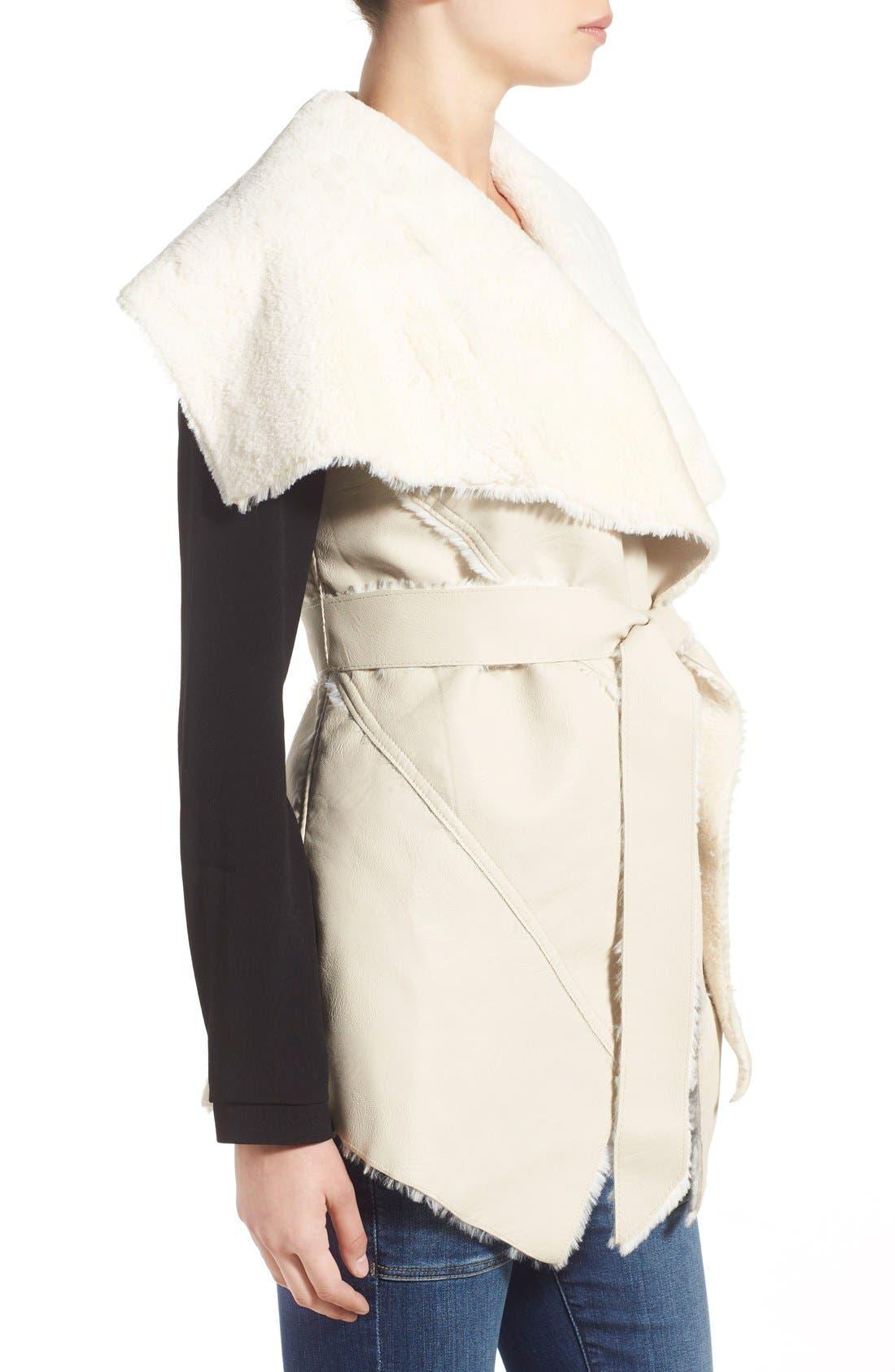 Alternate Image 3  - BLANKNYC 'Trooper' Faux Shearling Wrap Vest